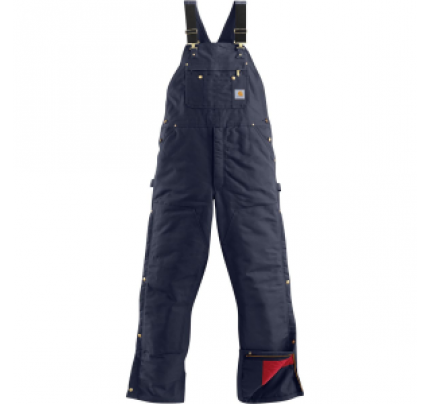Carhartt Quilt-Lined Zip-To-Thigh Bib Overall Pant - Men's